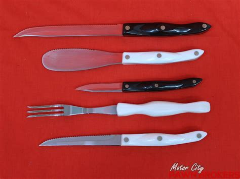 cutco kitchen knives cutlery assorted 10pc household knife set ebay