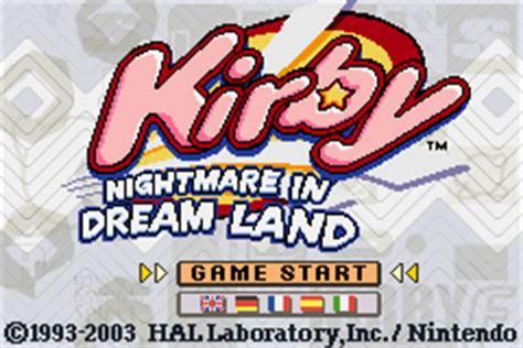 emuparadise kirby nightmare in dreamland kirby nightmare in dreamland e surplus rom