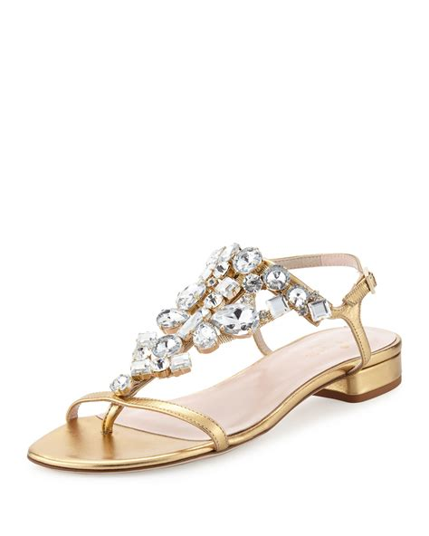Genevieve Sandals By Kate Spade by Kate Spade New York Fedra Jeweled Leather Sandal In