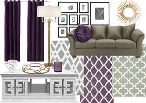 Living room color scheme sage amp purple modern martha