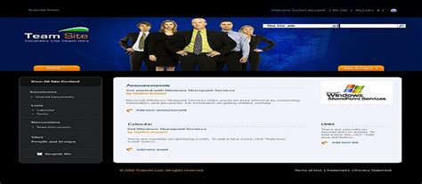Software Consulting And Recruiting Outsurcing Sharepoint Team Site Template