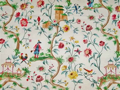 chinoiserie upholstery fabric pierre frey chinoiserie petite chinon toile cotton fabric 10