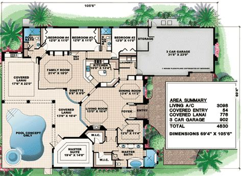 Arched Windows And A Huge Covered Lanai 76005gw 1st Lanai House Plans