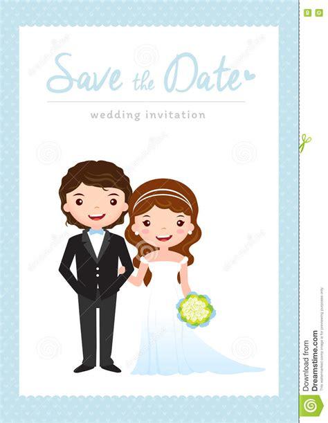 caricature wedding invitation card wedding invitation card stock vector image 73464295
