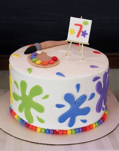 Auto Auf Kuchen Malen by 25 Best Ideas About Art Party Cakes On Pinterest Paint