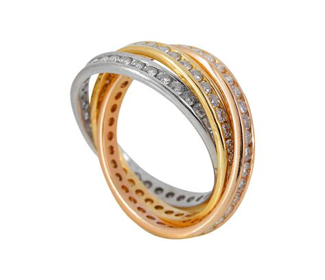 tri color ring damen ring 585 000 kr gold tricolor 3 ringe damenring