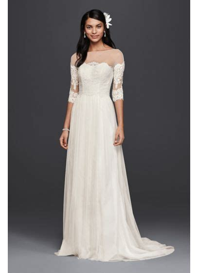 Wedding Dresses With Lace Sleeves by Wedding Dress With Lace Sleeves David S Bridal