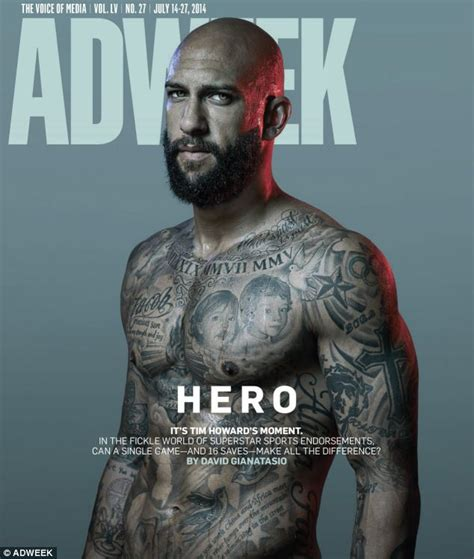 tim howard tattoos tim howard s tattooed torso graces the cover of adweek