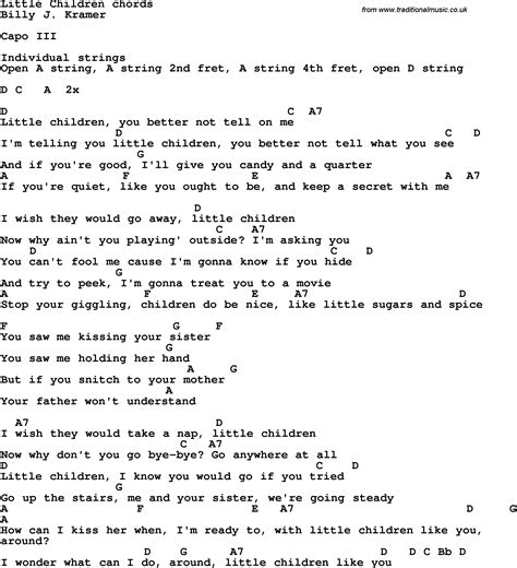 song with lyrics song lyrics with guitar chords for children