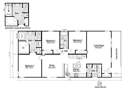 home blue prints wilmington manufactured home floor plan or modular floor plans
