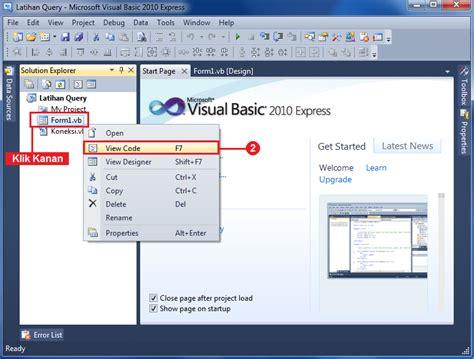 cara membuat query pada visual basic cara mengoneksikan database ms access dengan visual basic