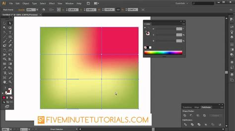 tutorial illustrator mesh tool adobe illustrator cs6 mesh tool tutorial youtube