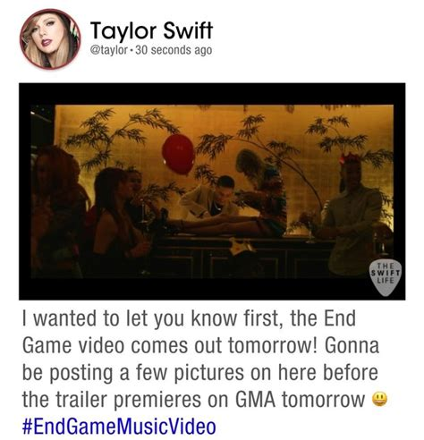 end game lyrics about taylor swift s end game music video premiering january