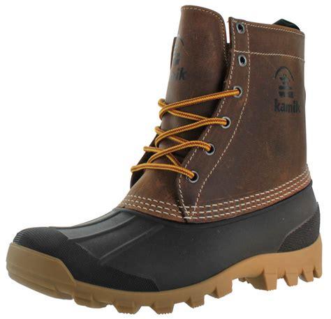 mens duck boots waterproof kamik yukon s waterproof winter duck boots ebay
