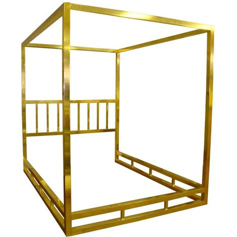 brass canopy bed queen size modern brass canopy bed at 1stdibs
