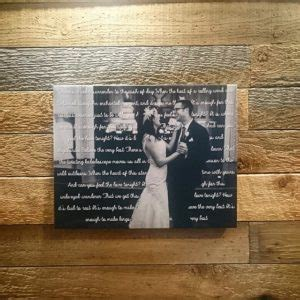 wedding song with lyrics song lyrics on canvas with wedding picture