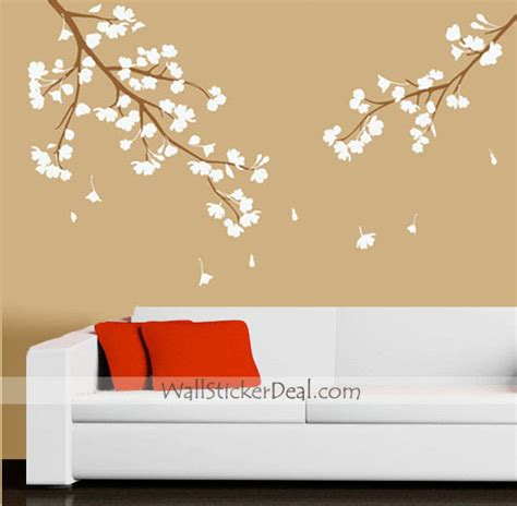 blossom wall stickers cherry blossom wall decals 2017 grasscloth wallpaper