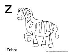 Z Zebra Coloring Page by Letter Z Writing And Coloring Sheet