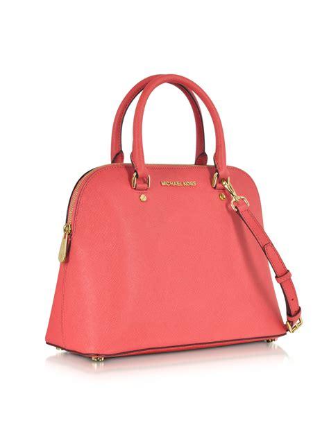 Michael Kors Satchel Bag michael kors large saffiano leather satchel in lyst
