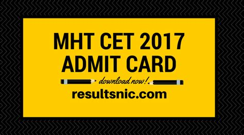 Mba Cet 2017 Admit Card by Mht Cet Admit Cards Dtemaharashtra Gov In
