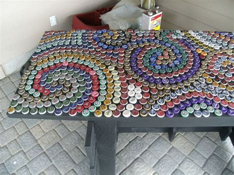 beer cap bar top beer cap bar top bottle cap countertop apt decor ideas
