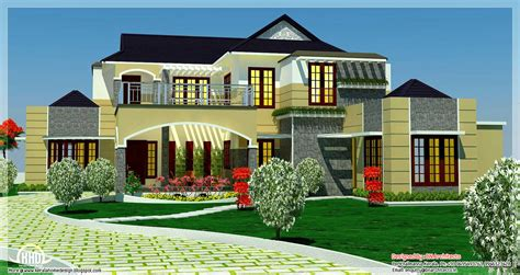 luxury homes plans 5 bedroom luxury home in 2900 sq feet kerala home