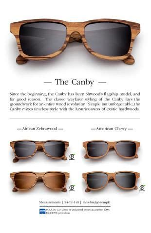 Shwood Handcrafted Wooden Eyewear - shwood 2012 catalog sunglasses catalog and brown