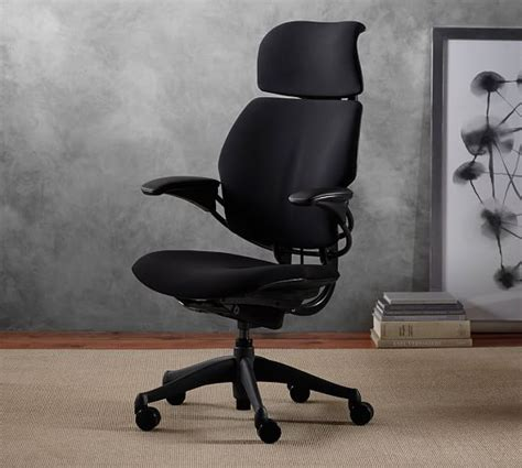 desk chair with headrest humanscale 174 freedom task chair with headrest pottery barn