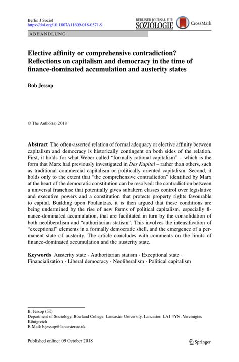 (PDF) Elective affinity or comprehensive contradiction