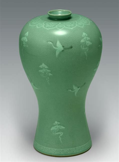 Thousand Cranes Vase by In Korea Awkward Outings Pottery And More
