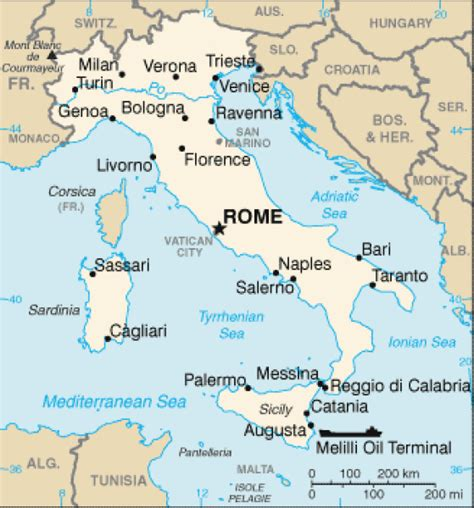 map of italy and surrounding countries map of italy terrain area and outline maps of italy