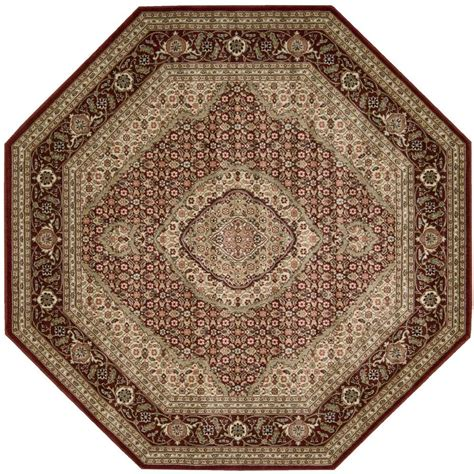octagonal area rugs nourison genie black 7 ft 9 in octagon area rug 695833 the home depot