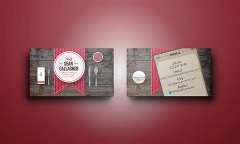 business cards  chefs  premium templates
