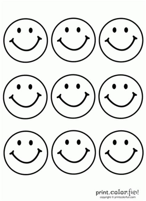 9 happy faces coloring page print color fun