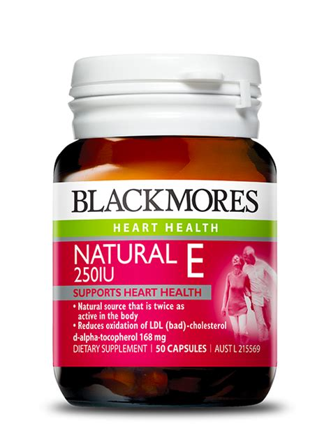 Blackmores E 250 Iu 50 Tablet vitamins and multivitamins supplements from