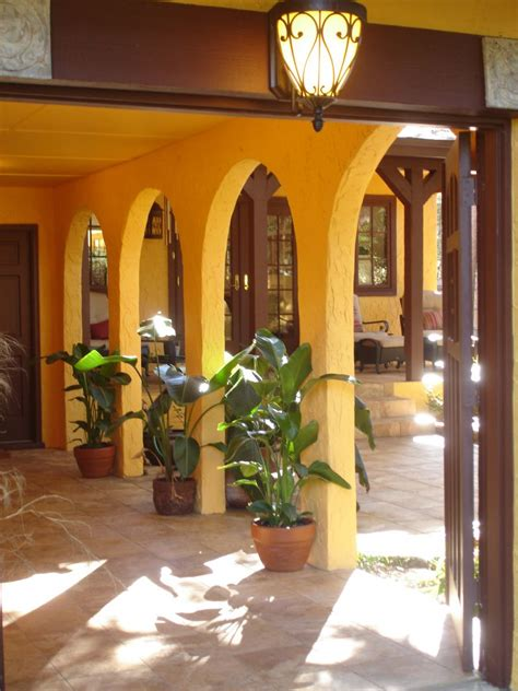 spanish courtyard designs homes with mexican rock wall fence member inspired landscaping ideas garden ideas outdoors