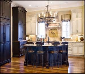 Antique Black Kitchen Cabinets Antique White Kitchen Cabinets With Black Granite Countertops Home Design Ideas