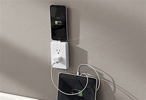 multi charging wall outlet  sharper image