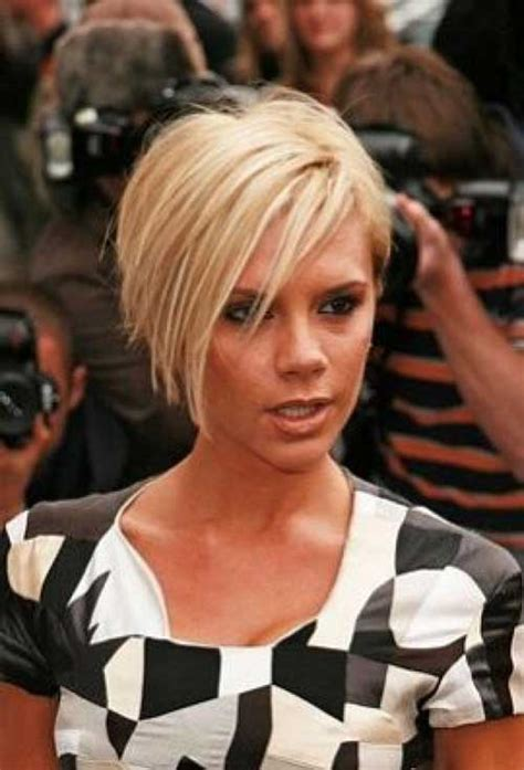 victoria beckham concave bob back view of layered graduated bob hairstyle short
