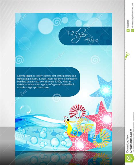 flyer design water water concept flyer design stock photo image 25999390