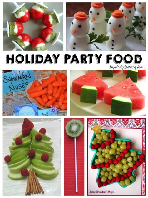 pre k christmas party snack ideas 10 healthy foods liz s early learning spot