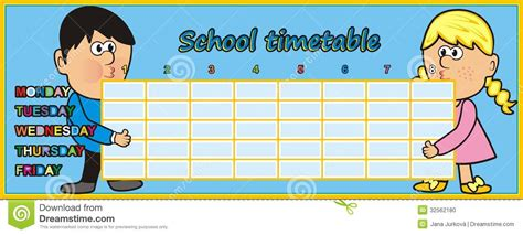 timetable kids stock illustration image of card baby