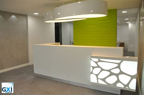 Organic Reception Desk Project With Ellipse Ls By Gxi Reception Desk Design