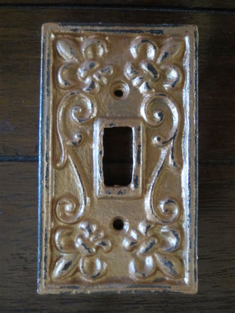 copper light switch covers light switch cover light plate cover cast iron metal