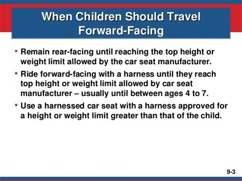 weight limit for forward facing car seat mod9 january 2015