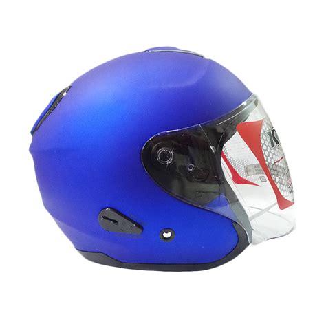 Helm Kyt Biasa luar biasa cuma 299 900 untuk gt gt kyt kyoto solid metalized flat helm half biru doff