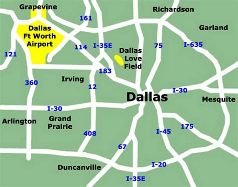 texas airport terminal map dallas airport map