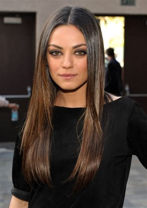 mila kunis hair color stylenoted one great hairstyle shiny