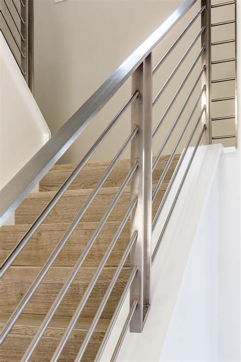 steel banister rails modern coastal beach house seaside oceanside coastal