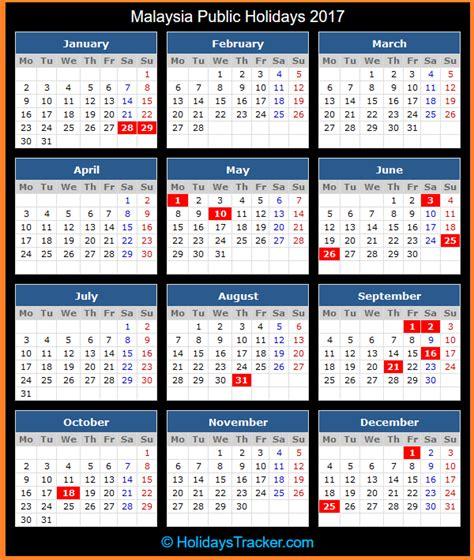 Calendar October 2017 With Holidays Malaysia Malaysia Holidays 2017 Holidays Tracker